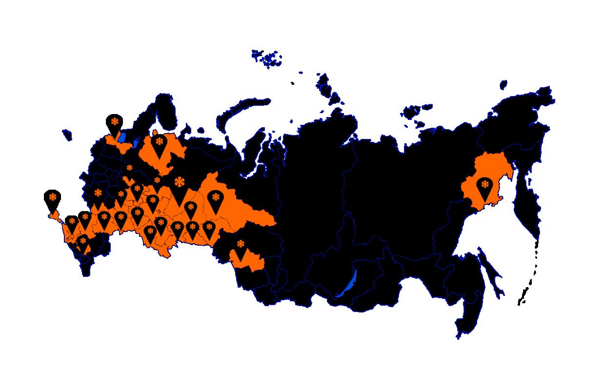 Территория дилерской сети